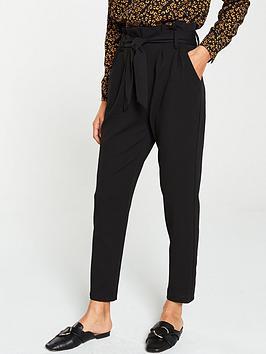 v-by-very-paper-bag-tie-waist-trouser-black