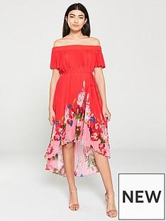 c59a5e6334487 Ted Baker Gillyy Berry Sundae Bardot Dress - Red