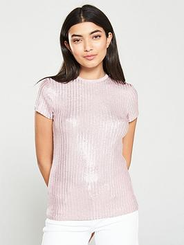 ted-baker-catrino-metallic-fitted-tee-light-pink