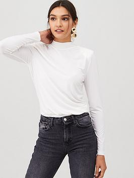 v-by-very-shoulder-pad-deep-hem-band-jersey-top-ivory