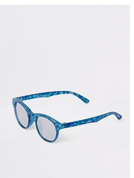 river-island-mini-mini-boys-flat-top-retro-sunglasses-blue