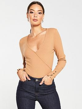 v-by-very-ribbed-wrap-button-detail-top-stone