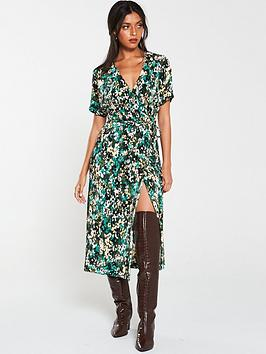 v-by-very-plisse-midi-dress-print