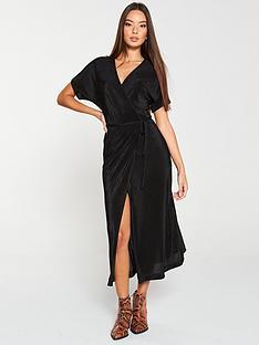 v-by-very-plisse-midi-dress-black