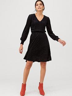 v-by-very-burn-out-jersey-mini-dress-black