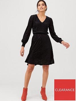 v-by-very-burn-out-jersey-mini-dress-black