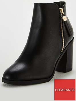 office-albany-contrast-mid-block-heel-ankle-boots-black