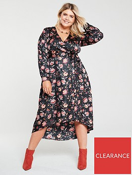 v-by-very-curve-jacquard-wrap-dress-floral-print
