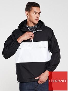 armani-exchange-logo-front-pocket-over-head-jacket-blackwhite