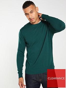 selected-homme-daniel-crew-neck-jumper-green