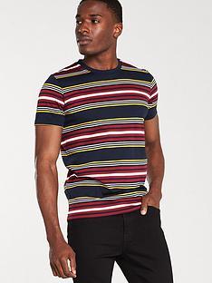 selected-homme-mullan-short-sleeve-open-neck-t-shirt-navy