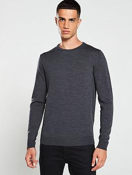 selected-homme-merino-crew-neck-jumper-grey