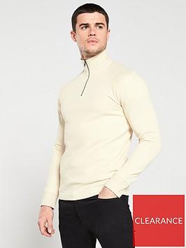 selected-homme-jake-high-neck-zip-sweater-cream
