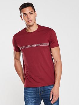 armani-exchange-logo-hoop-print-t-shirt-red