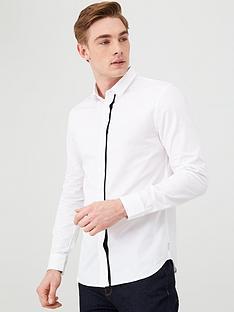 armani-exchange-striped-shirt-white