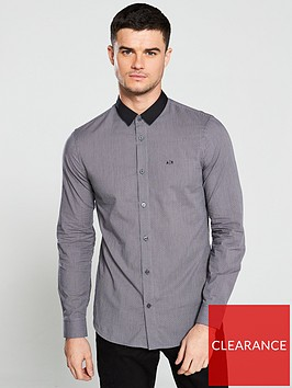 armani-exchange-contrast-collar-shirt-grey
