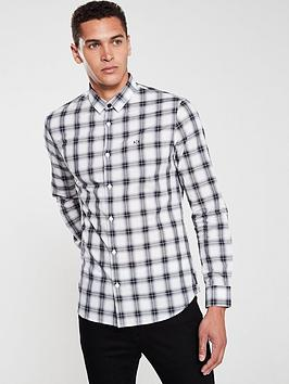 armani-exchange-checked-shirt-grey