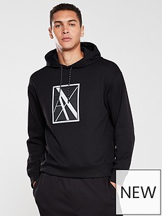 armani-exchange-reflective-logo-hoodie-black