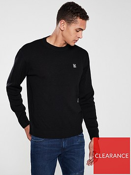 armani-exchange-knitted-crew-neck-jumper-black