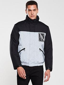 armani-exchange-reflective-contrast-padded-jacket-blacksilver