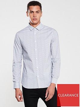 armani-exchange-all-over-print-shirt-blackwhite