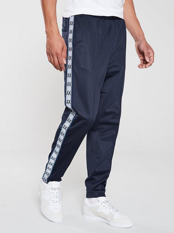 promo codes great look unequal in performance Logo Tape Tracksuit Bottoms - Navy