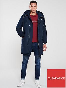 armani-exchange-hooded-coat-navy
