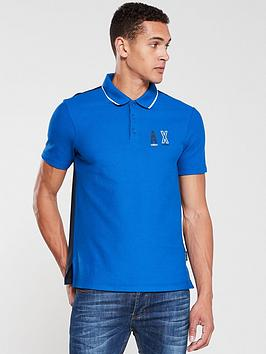 armani-exchange-tipped-panel-polo-shirt-blue
