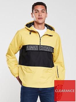 armani-exchange-logo-front-pocket-over-head-jacket-yellowblack