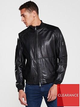 armani-exchange-leather-jacket-black