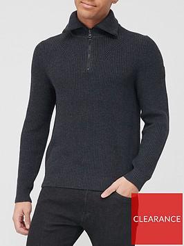 boss-akromiz-half-zip-knit-jumper