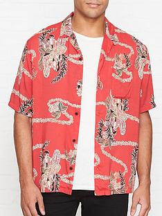 allsaints-makalika-short-sleeve-shirt-red