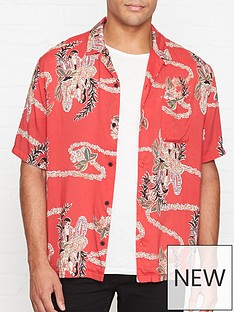 allsaints-makalika-short-sleeve-shirt-red