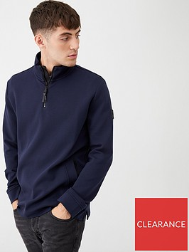 boss-zbond-half-zip-sweatshirt-navy