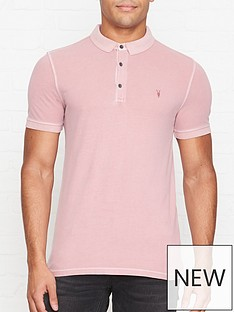 allsaints-contrast-stitch-polo-shirt-pink
