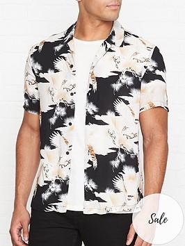 allsaints-tallon-tiger-print-short-sleeve-shirt-black