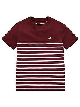 lyle-scott-boys-short-sleeve-breton-stripe-t-shirt-wine