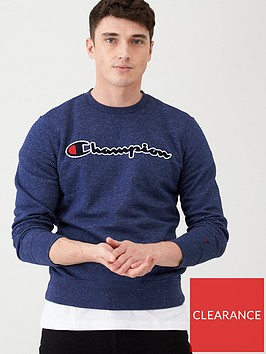 champion-crew-neck-sweat-navy-marl