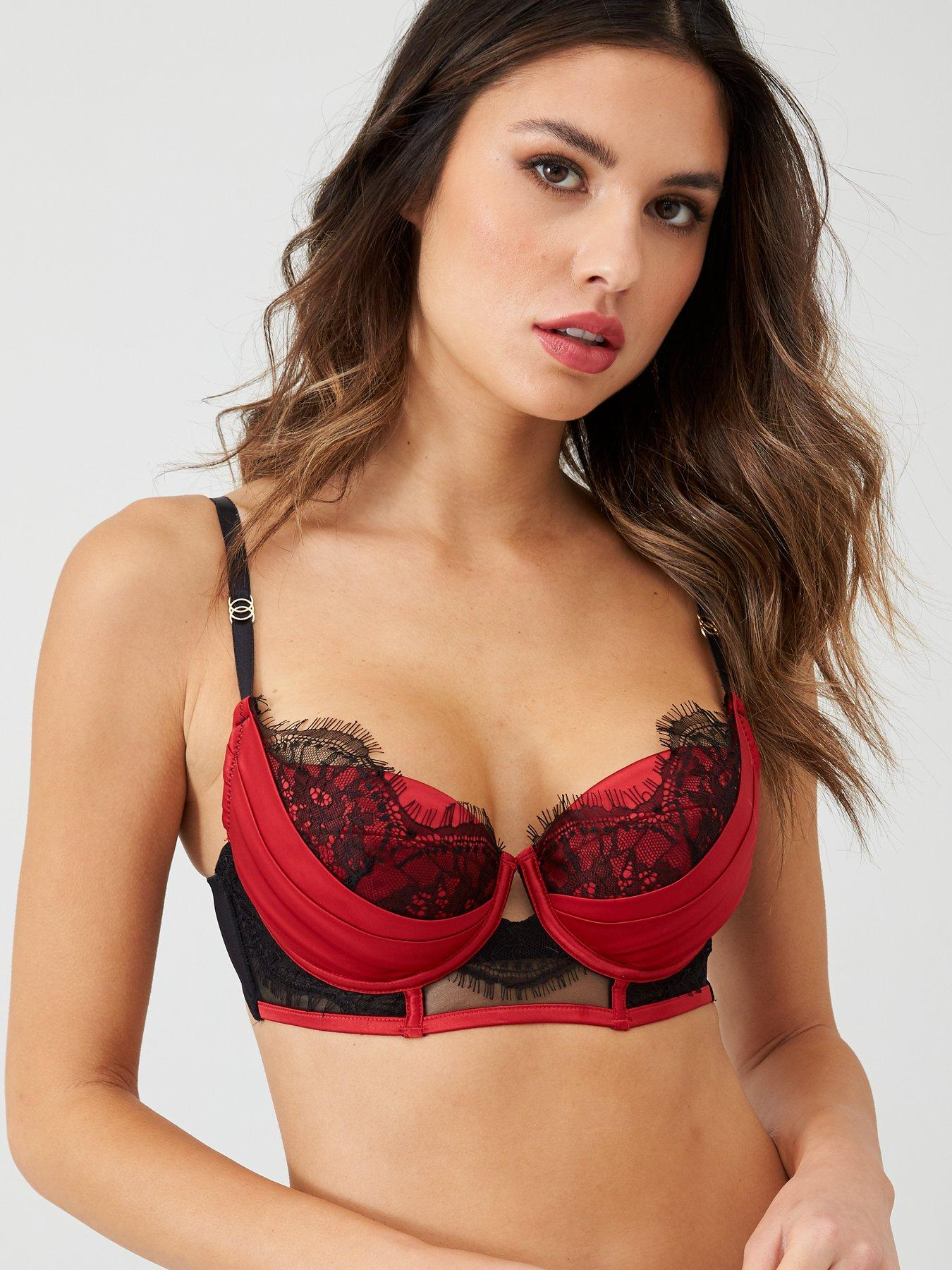 Ann Summers Adalicia Red Balcony Bra Size 34D *In Stock*