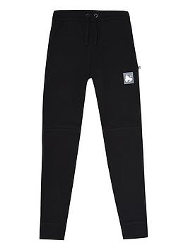 money-boys-block-ape-cuffed-joggers-black