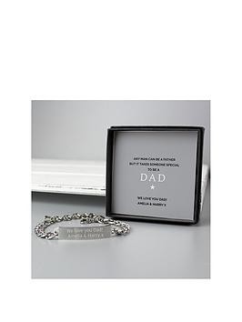 personalised-stainless-steel-id-bracelet-with-dad-sentiment-card