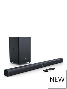 JBL Bar 2.1: Soundbar with Wireless Subwoofer - Black