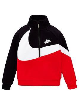 nike-childrens-fleece-sherpa-12-zip-jacket-black