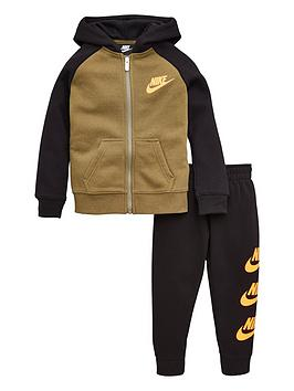nike-childrens-multi-futura-suede-fleece-jogger-set-khaki