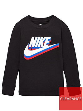 nike-childrens-stacked-textured-futura-logo-long-sleeve-tee-black