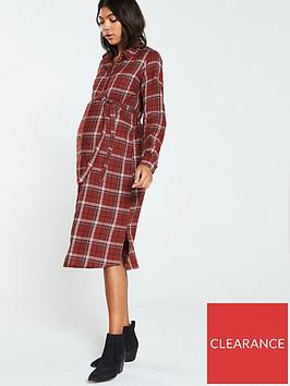 mama-licious-aviaja-lia-woven-shirt-dress-maroon