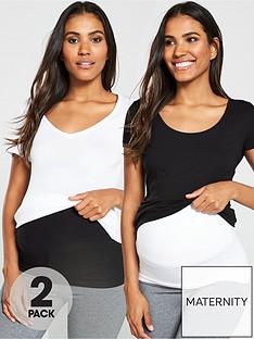 mama-licious-cara-2-pack-cotton-maternity-bumpbandsnbsp--black-white