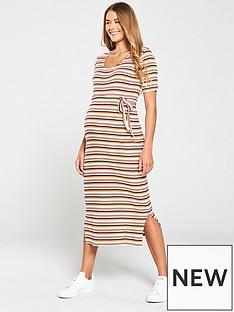 74bd0bc95a62d Mama-Licious Trishia 2/4 Jersey Midi Dress - Stripe