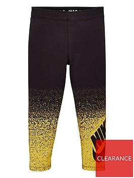 nike-sportswear-childrens-girls-metallic-shine-spray-leggings-black