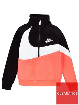 nike-childrens-fleece-sherpa-12-zip-jacket-pink